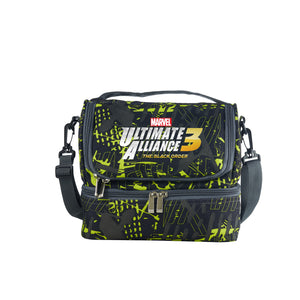 New Marvel Ultimate Alliance 3 The Black Order Boys Girls Durable Two Compartment Two Colors Graffiti Lunch Bag For School