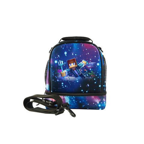Kids Minecraft Two Compartment Lunch Bag