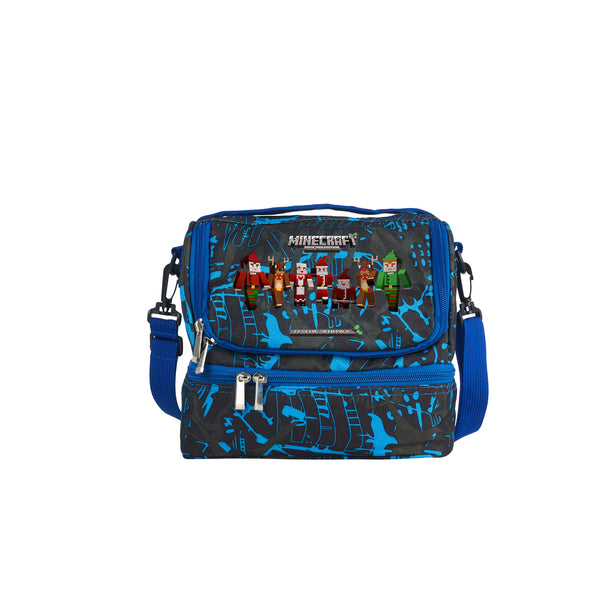 2019 Kids Minecraft Durable Two Compartment Two Colors Graffiti Lunch Bag For School