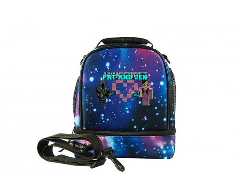 Minecraft Pat And Jen Two Compartment Lunch Bag
