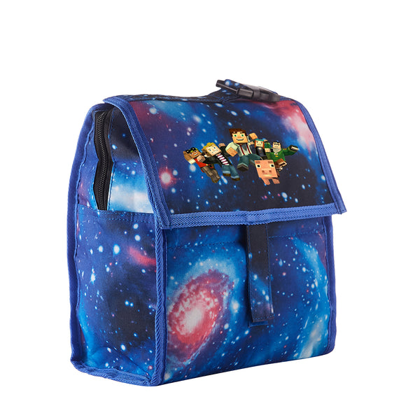 Minecraft Starry Sky Freezable Lunch Bag with Zip Closure