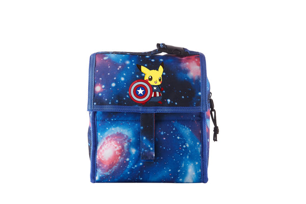 Pikachu Cos Captain America Freezable Lunch Bag with Zip Closure For School