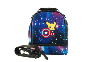 Pikachu Cos Captain America Two Compartment Lunch Bag