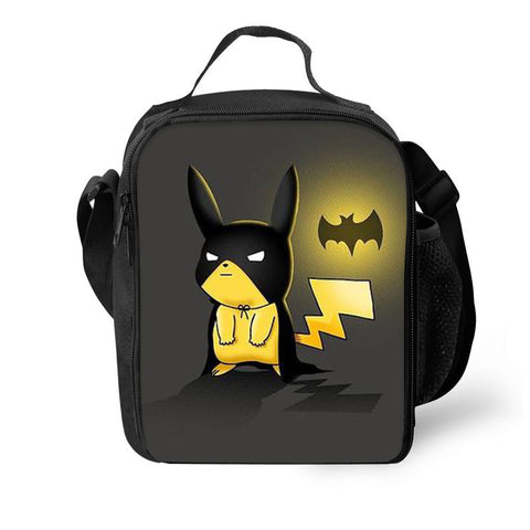 Pokémon Pikachu Cosplay Batman 3D Pattern Large Capacity Lunch Bag