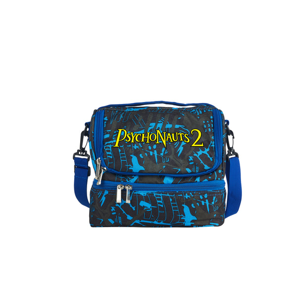 Psychonauts 2 Boys Girls Durable Two Compartment Two Colors Graffiti Lunch Bag For School