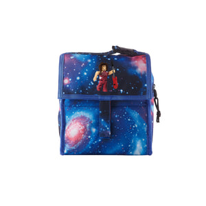 Roblox 2019 RoCitizens Scarlet Minifigure Logo Galaxy Freezable Lunch Bag with Zip Closure