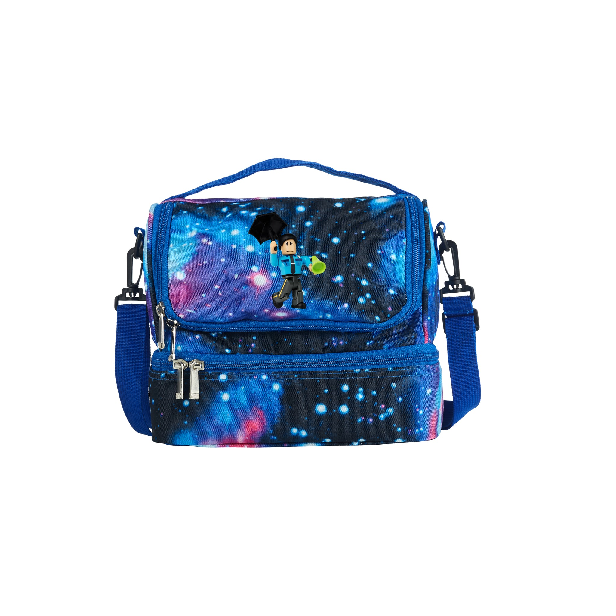 Roblox 2019 Cop Logo Two Compartment Galaxy Lunch Bag