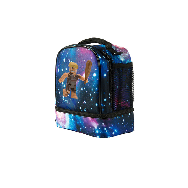 Roblox Hexogen Cave Man 2019 Two Compartment Galaxy Lunch Bag