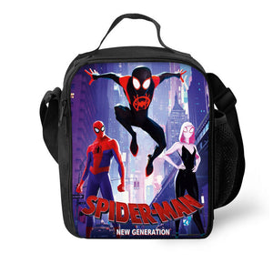 Spider-Man Spider Man Into the Spider Verse 3D Pattern Large Capacity Lunch Bag