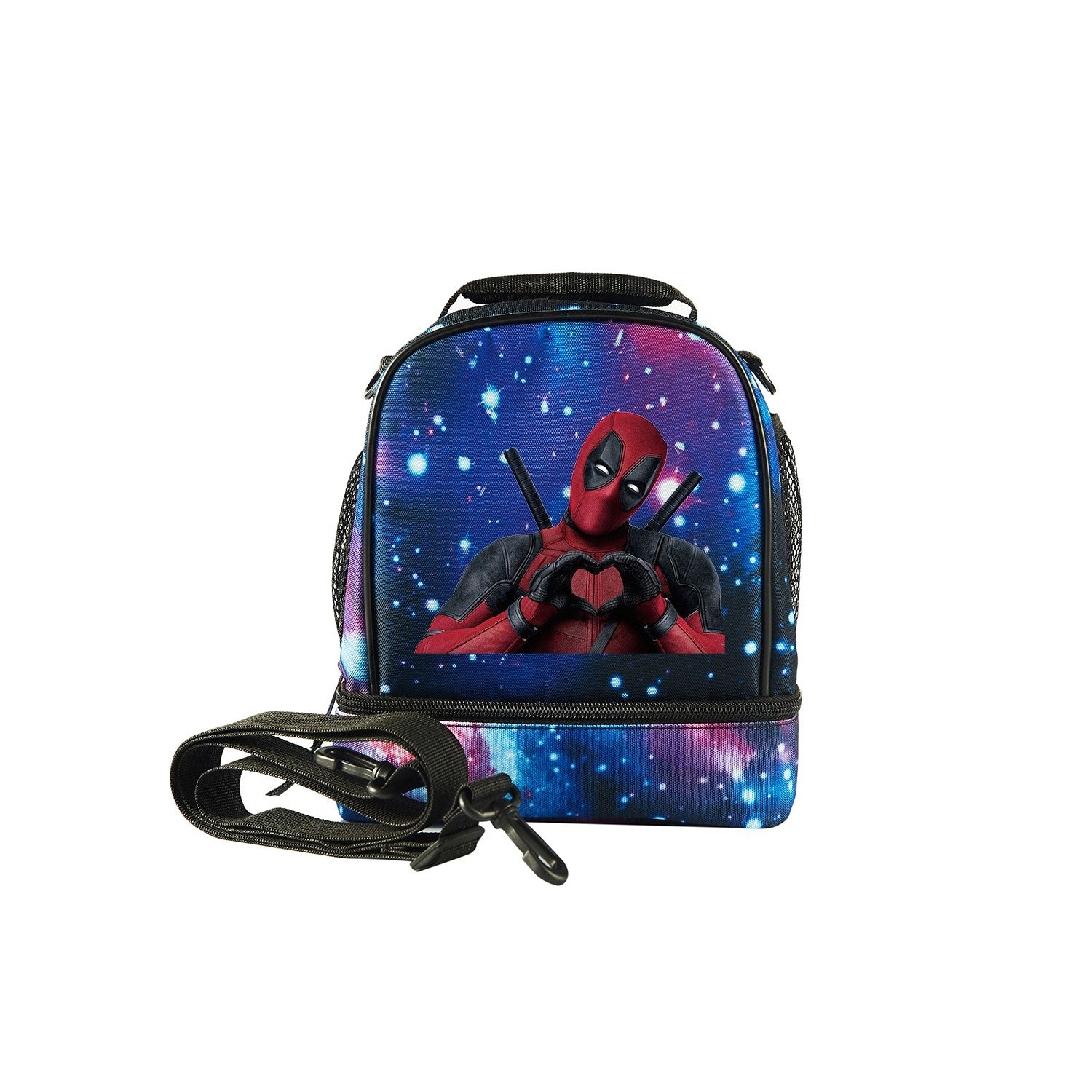 2019 Spider Man Logo Kids Two Compartment Foldable Lunch Bag For School