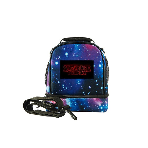 Stranger Things Logo Kids Two Compartment Foldable Lunch Bag For School