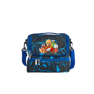 Super Mario Maker 2 New Version 2019 Game Theme Kids Two Compartment Blue Graffiti Lunch Bag