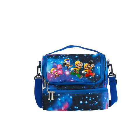 Super Mario Maker 2 Series 2019 Latest Model Two Compartment Galaxy Lunch Bag