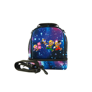 Super Mario Maker Logo 2019 Kids Two Compartment Galaxy Lunch Bag For School