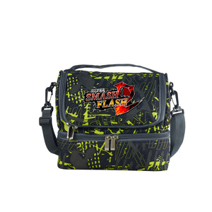 Super Smash Bros Utimate Boys Girls Durable Two Compartment Two Colors Graffiti Lunch Bag For School