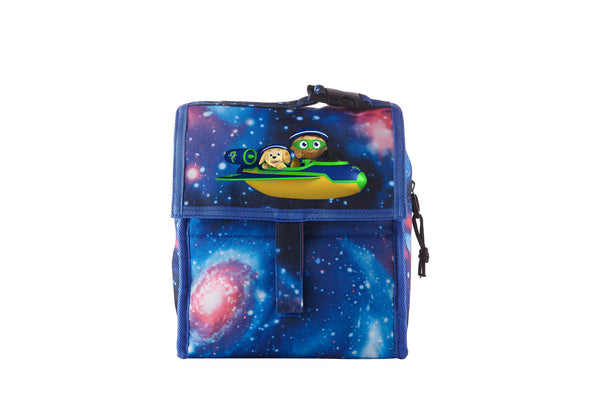 Super Why Logo Starry Sky Freezable Lunch Bag with Zip Closure