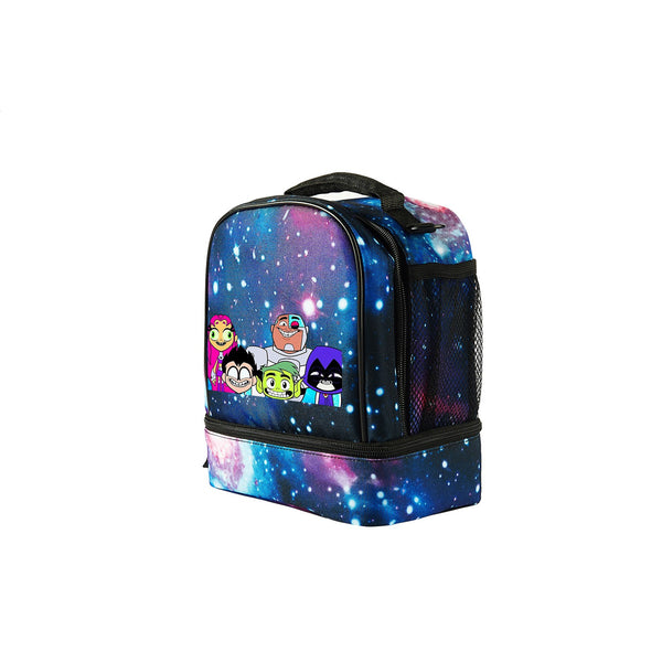 2019 Teen Titans Go Logo Kids Fashion Two Compartment Foldable Lunch Bag