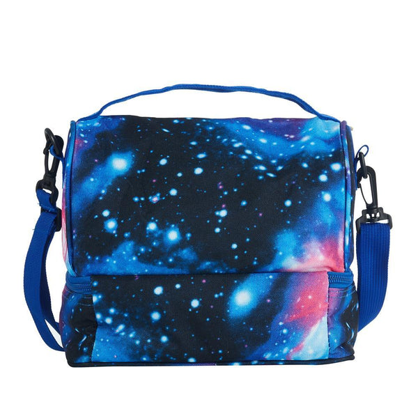 2019 Latest Model Gears POP Logo Two Compartment Galaxy Lunch Bag
