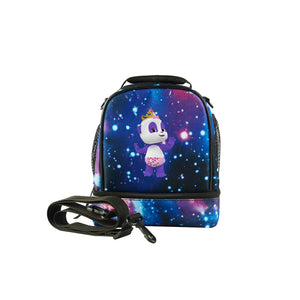 Word Party 2019 Series Kids Two Compartment Galaxy Lunch Bag For School