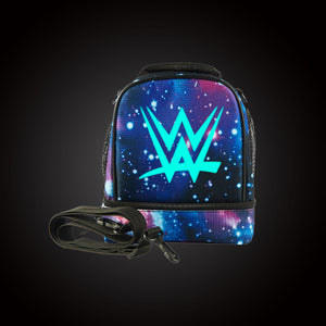 Wrestling W Two Compartment Starry Sky Lunch Bag Glow In Dark