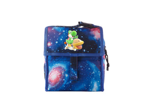 Yoshi's Crafted World Logo Starry Sky Freezable Lunch Bag with Zip Closure