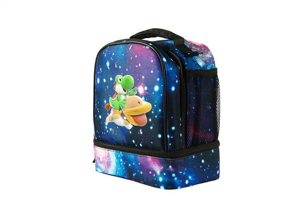 Yoshi's Crafted World Logo Starry Sky Two Compartment Lunch Bag