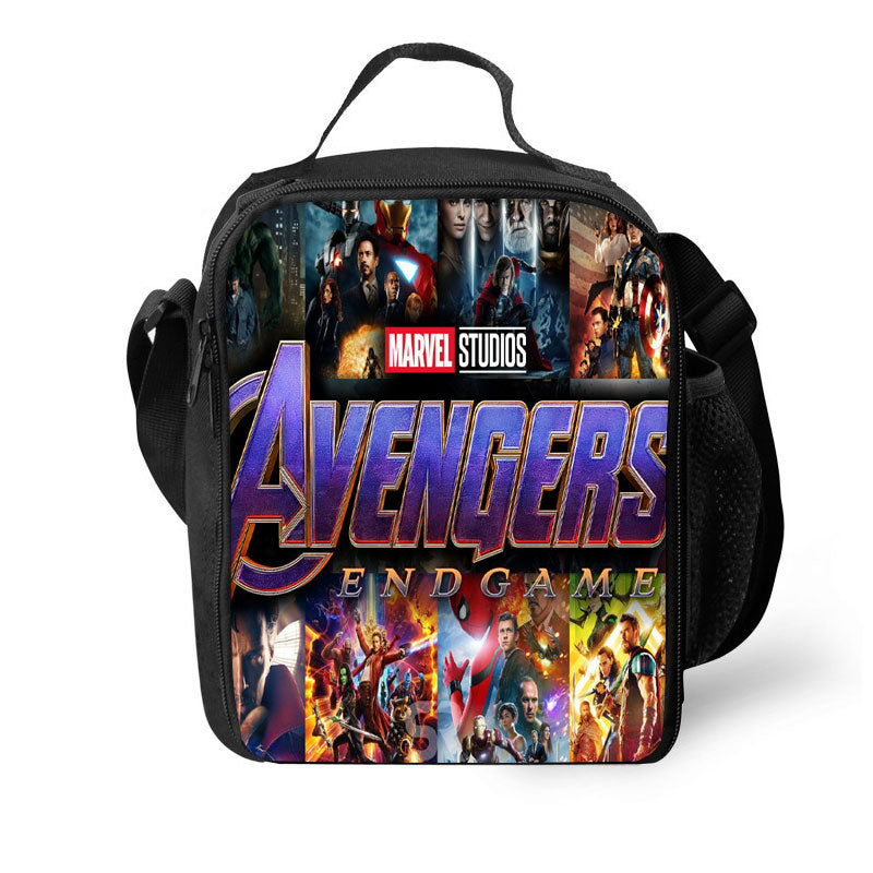 2019 Avengers 3D Pattern Large Capacity Lunch Bag For School