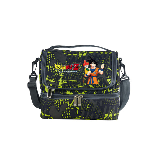 2019 Dragon Ball Z Goku Kakarot Boys Girls Two Compartment Two Colors Graffiti Lunch Bag For School