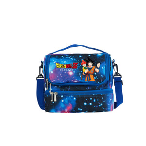 2019 Dragon Ball Z Goku Kakarot Boys Girls Two Compartment Blue Galaxy Lunch Bag