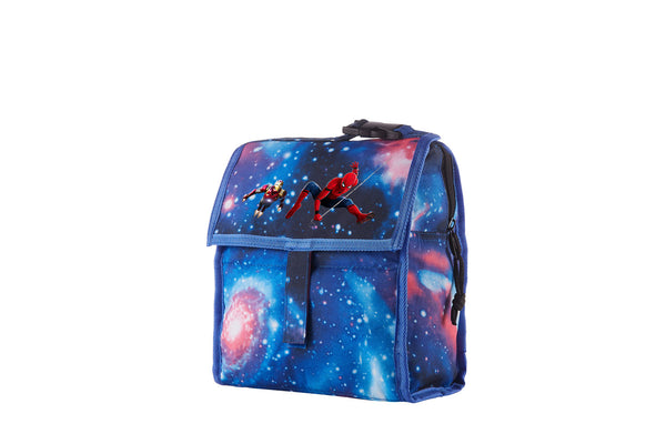 2019 Spider Man Kids Galaxy Freezable Lunch Bag with Zip Closure