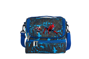 Spider Man Durable Two Colors Two Compartment Lunch Bag