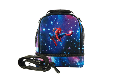 Spider Man Kids Canvas Two Compartment Lunch Bag