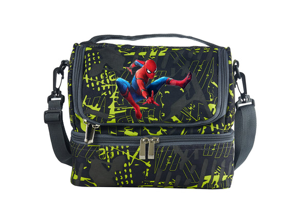 Spider Man Boys Girls Two Colors Durable Two Compartment Lunch Bag