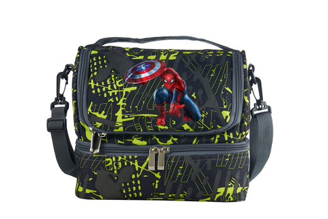 Spider Man Boys Girls Two Colors Two Compartment Lunch Bag