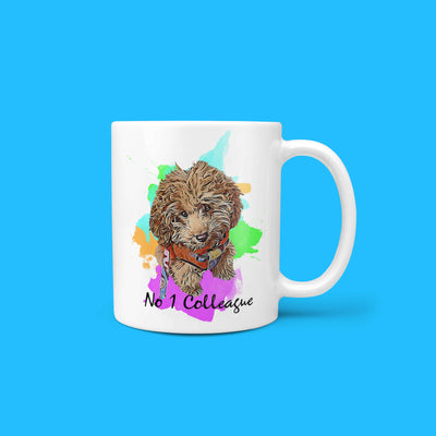 Personalizable - No.1 Colleague Pet Mug (5265241178268)