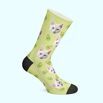 Personalizable - Avocado Pet Socks (4555793596473)