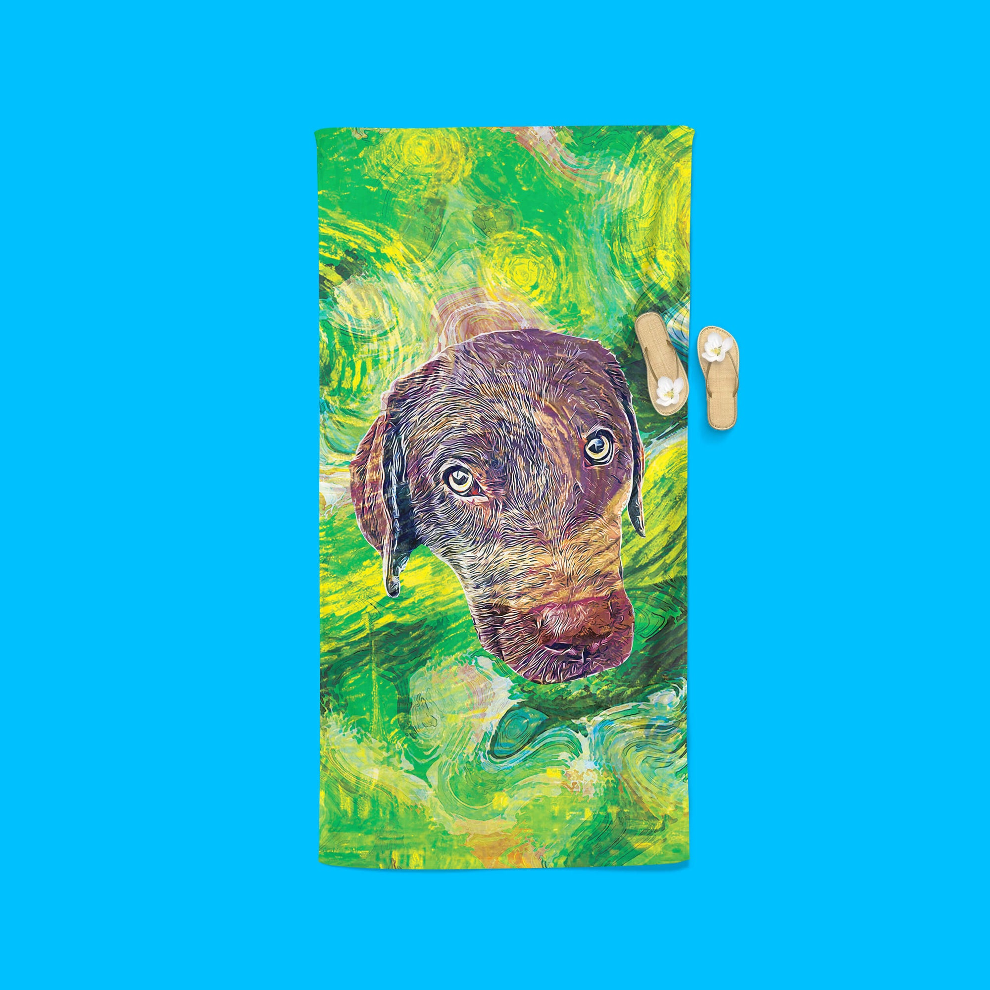 Customizable - Van Gogh Beach Towel (4566110699577)