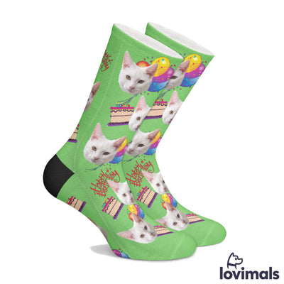 Customizable Birthday Pet Socks (2113115291705)