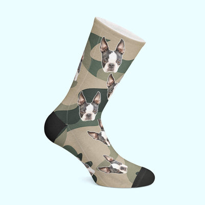 Customizable - Camo Pet Socks (4555792744505)