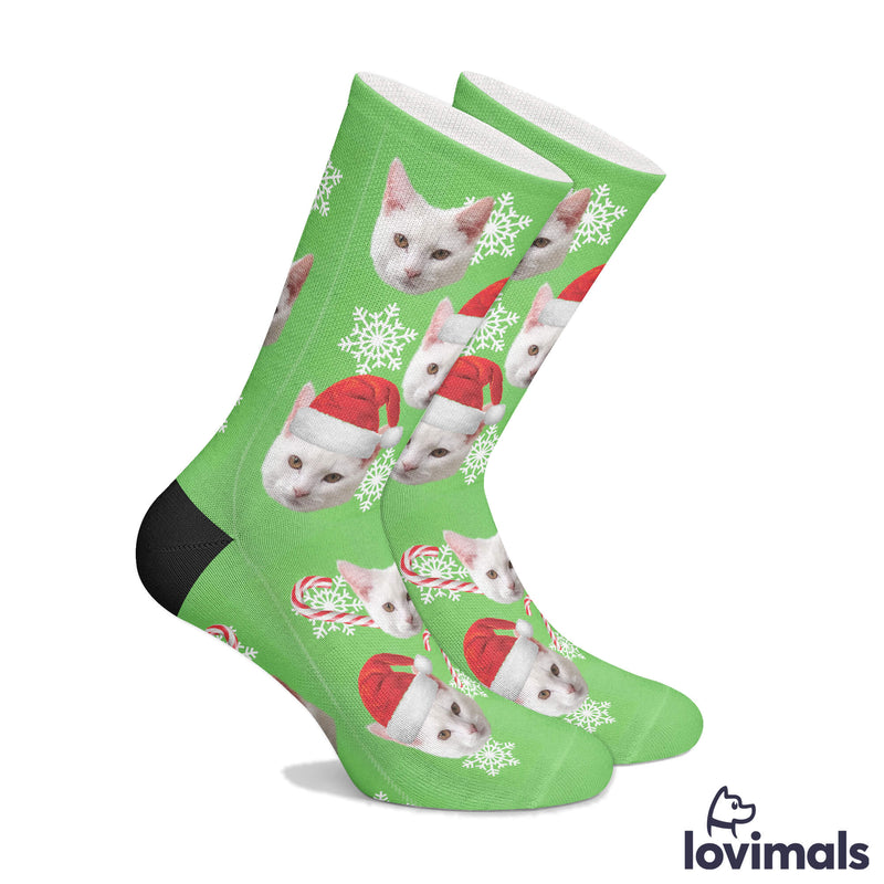 Personalized Christmas Pet Socks (2195072647225)