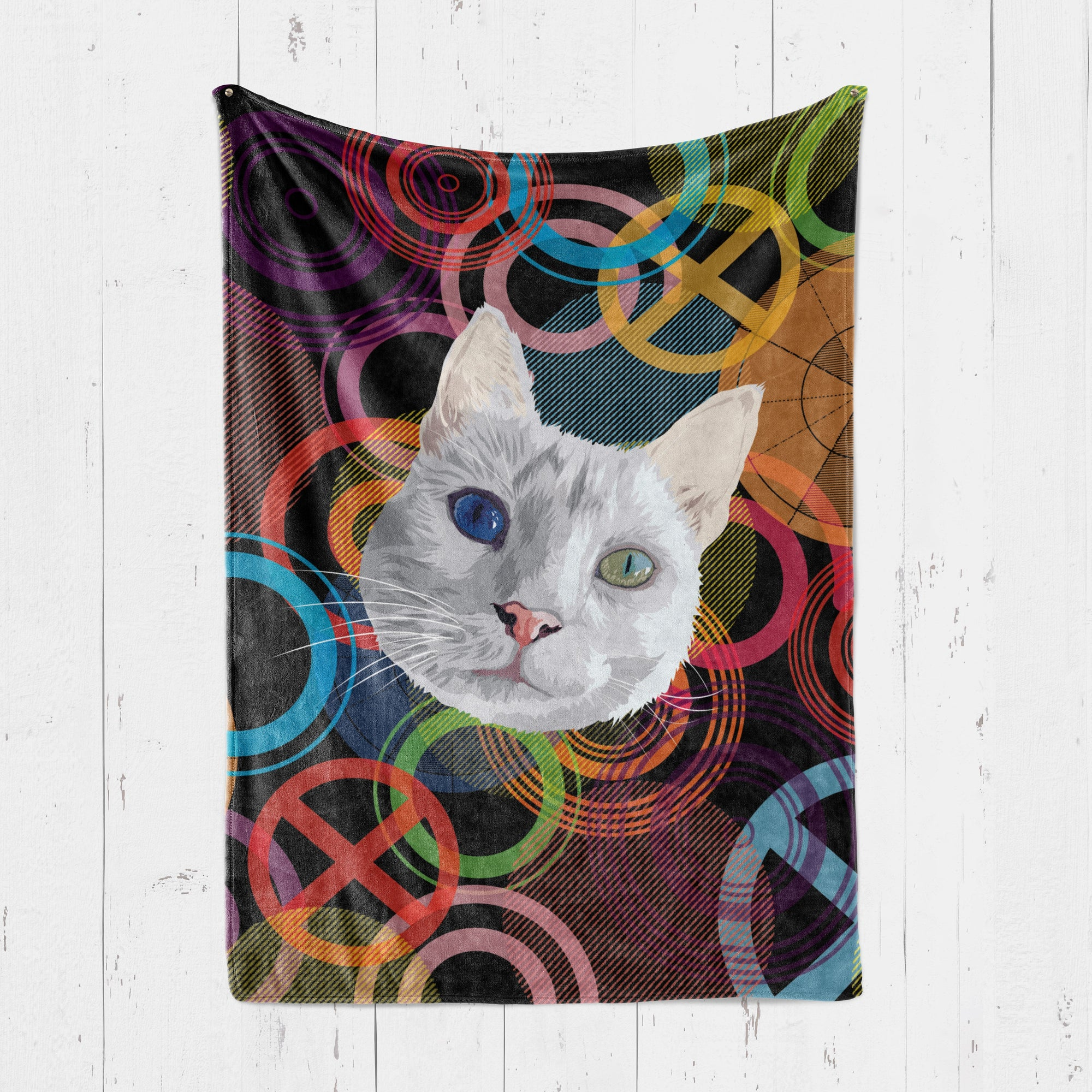 Customizable - Psychedelic Pet Blanket (4559602057273)
