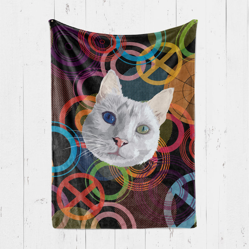 Customizable - Psychedelic Pet Blanket