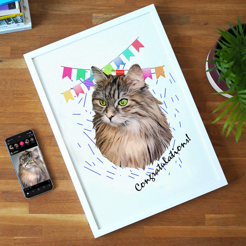 Customizable Pet Print - Congratulations