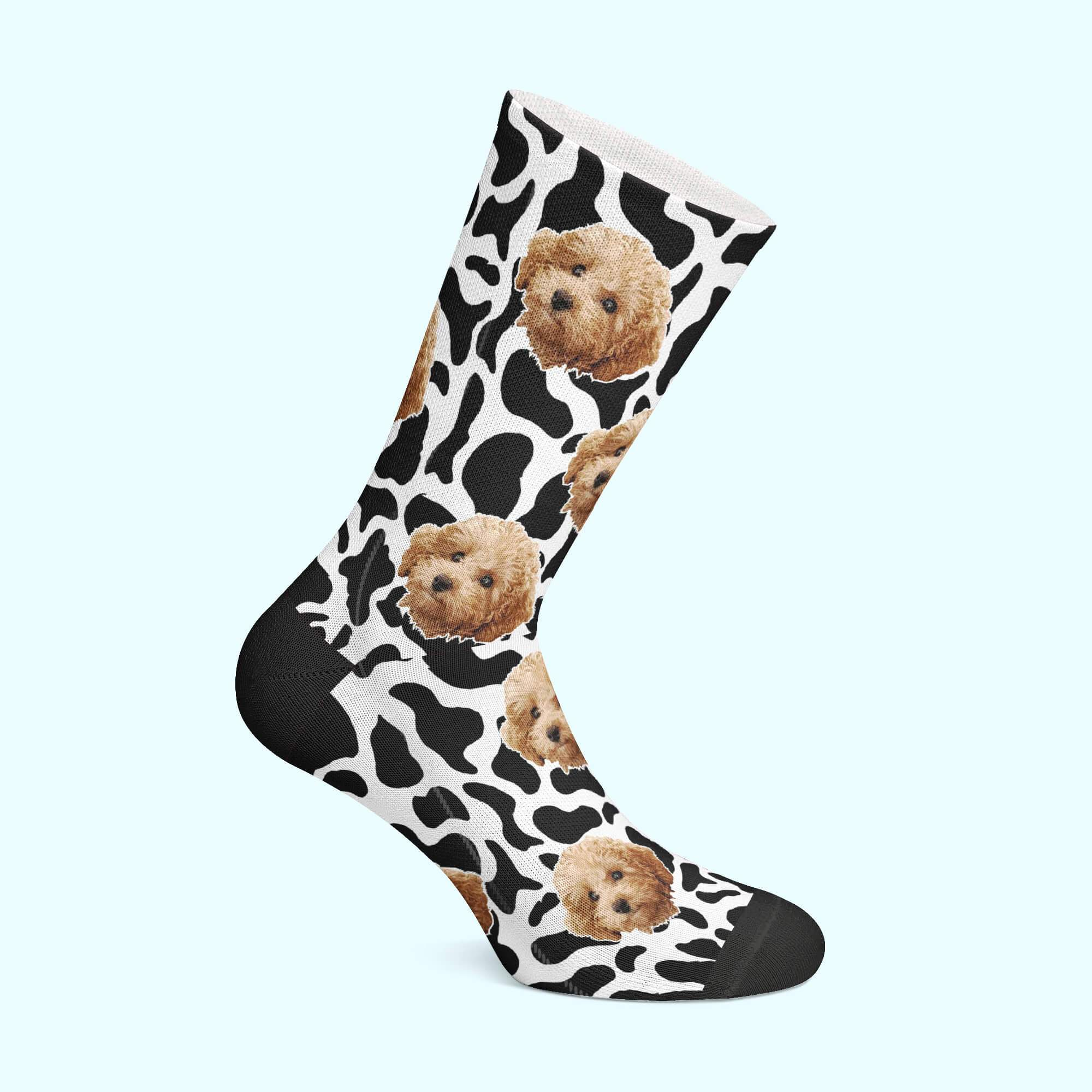 Customizable - Cow Pet Socks