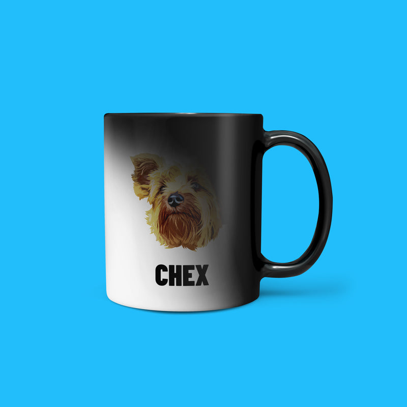 Personalized Heat Change Pet Mug - Pet Face