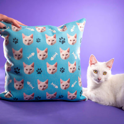 Customized Cat Pillow Cover (2320460677177)