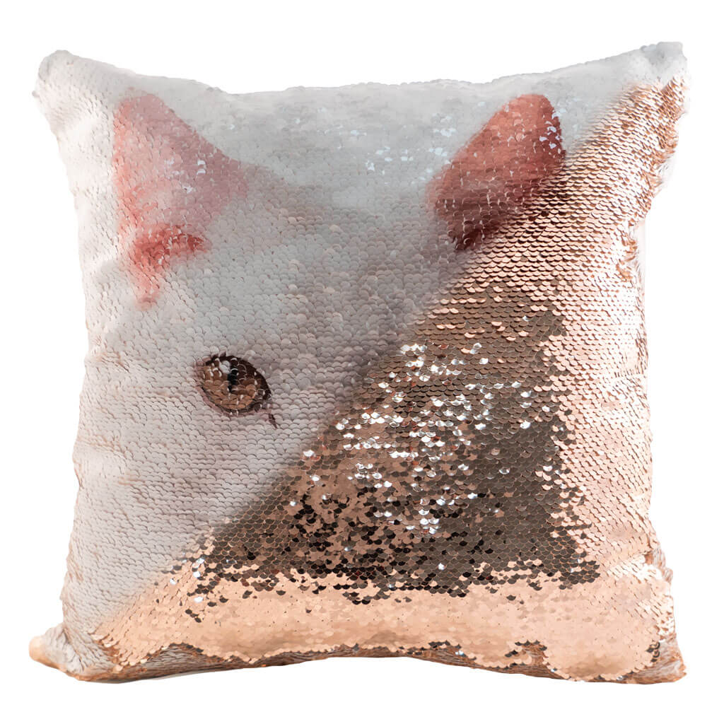 Personalized Sequin Cushion Cover
