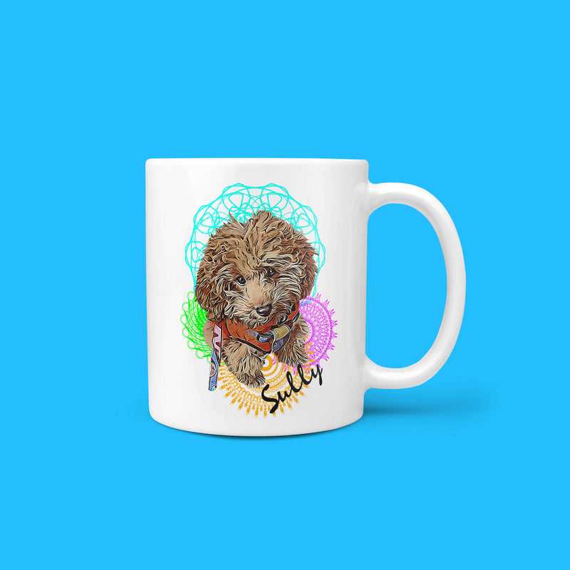 Personalized Pet Mug - Mandala (4661108670521)