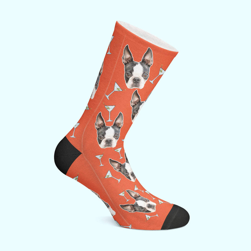 Customizable - Martini Pet Socks (4555792449593)