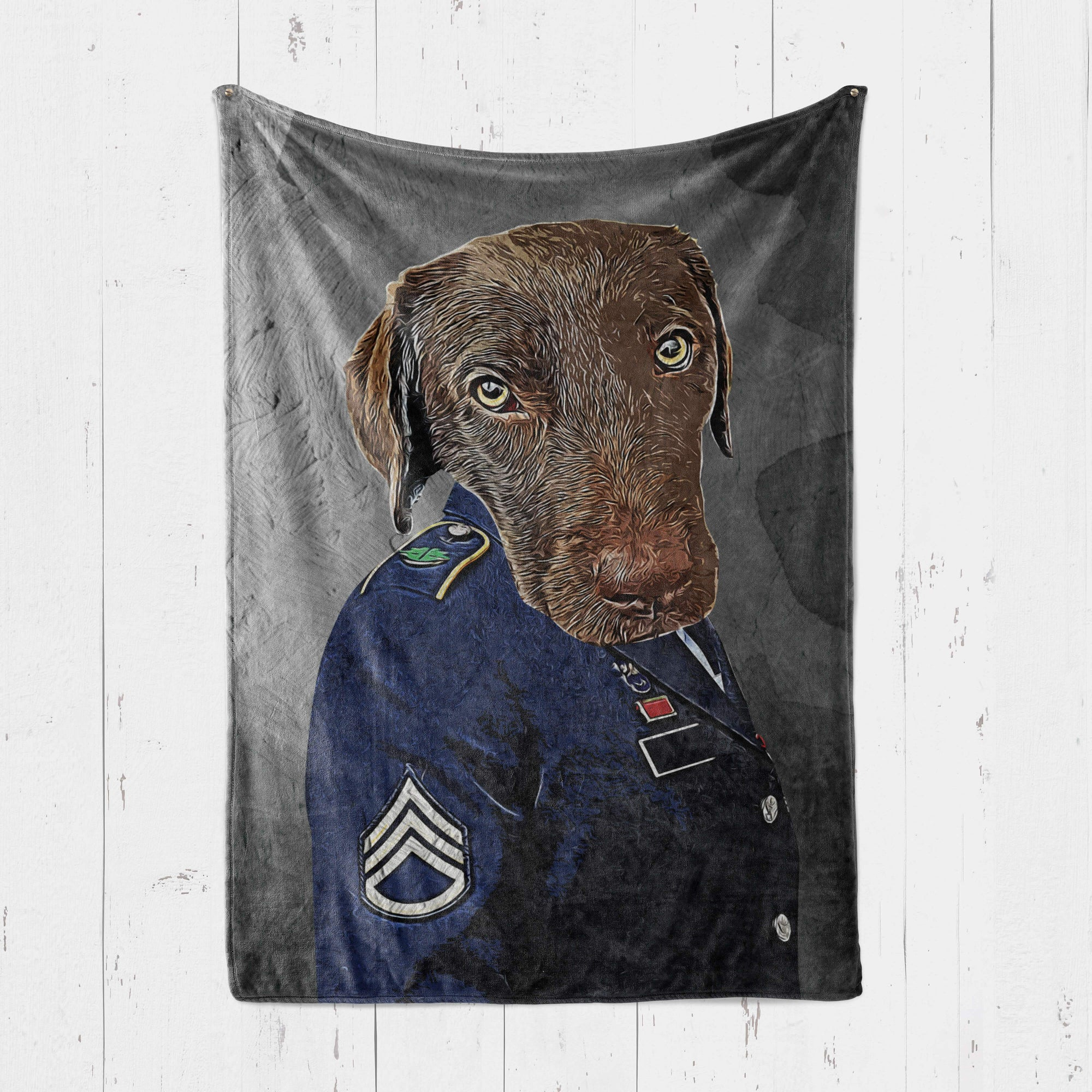 Customizable - Officer Pet Blanket (4556875071545)